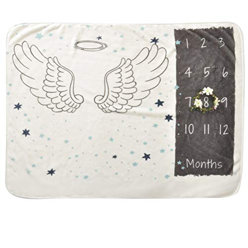 COUXILY Couverture de jalon pour le nouveau-né oenbopo bébé accessoires mensuels de photographie de jalon tire le fond tissu 70 * 102 cm (B03)