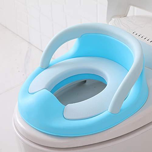 Sisyria Enfants bienvenus Pro Baby Training Potty Seat, Enfants Formateur de Toilettes Anneau pour garçons ou Filles Couvercle Soft-Close Couvercle de la Toilette,Bleu