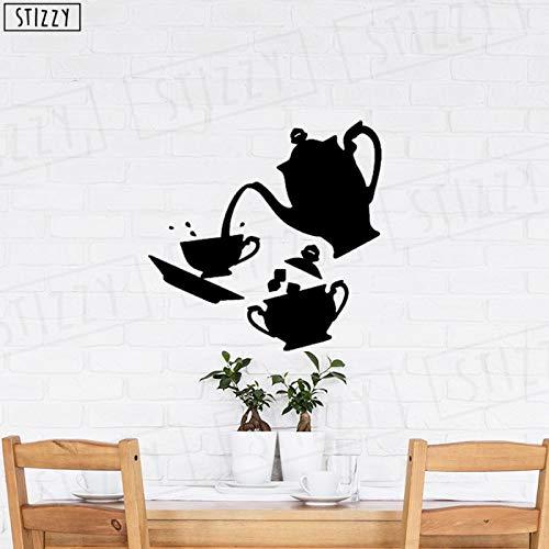 Tianpengyuanshuai muursticker voor keuken, thee, koffie, vinyl, afneembaar motief, restaurant, decoratie thuis