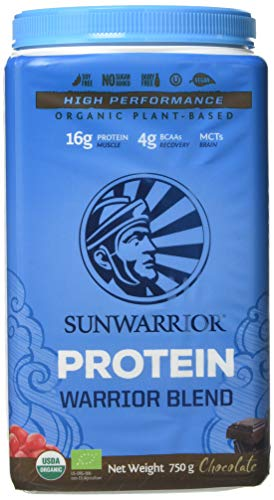 Sunwarrior Warrior Blend Organic Raw Vegan Protein...