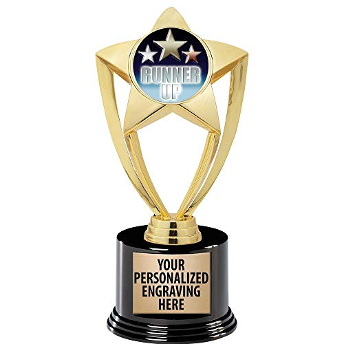 Crown Awards Female Running Trophy 6 Gold Star Custom Race Trophies Prime