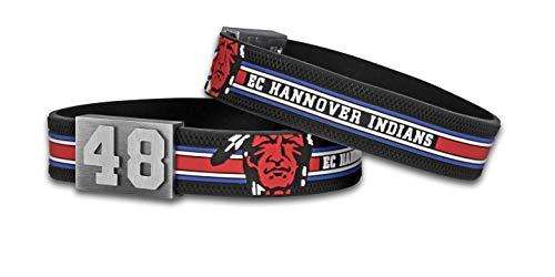 BRAYCE® Hannover Indians Armband mit Deiner Trikot Nummer 00-99 I Eishockey pur mit dem original Indians Trikot am Handgelenk personalisierbar & handgemacht