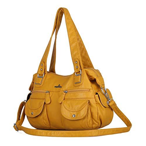Purses&Handbag Waterproof Cross Body Shoulder Purse Bag Tote-Handbag for Women (yellow)