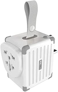XIMINGJIA-O Power Plug Adapter - International Travel - 4 USB Ports in Over 150 Countries - 100-240 Volt Adapter - (1 Pack) White International Converter,
