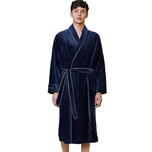 Albornoces para hombres y mujeres, vestidos de lana, pijamas de pareja, ropa de hogar de lujo ligera de otoño e invierno de franelaLFNIU
