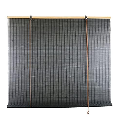 L-KCBTY Persianas De Bambú, Estor Bambu para Uso En Interiores Y Al Aire Libre, Aislamiento Térmico/Transpirables, Instalación Fácil Y Simple, Cortina De Madera Opacas, Negro