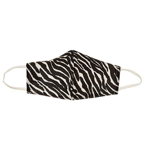 VialeShoes Unisex-Gesichtsmaske aus Zebra-Stoff, Baumwollfutter, waschbar und wiederverwendbar, Einheitsgröße