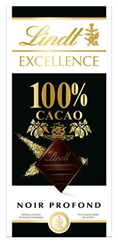LINDT & SPRÜNGLI Tablette de Chocolat Excellence Noir Infini 100% Cacao 50 g