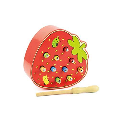 MKJYDM Jouets éducatifs pour Enfants en Bas âge éducatif Fraise Attraper Insecte Jeu Insecte Attraper Jouet 6.5x15.7x14.6cm Jouets intelligents pour Enfants (Color : A)
