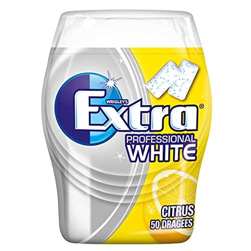 WRIGLEY\'S EXTRA Professional White Citrus   Zuckerfrei   Eine Dose (1 x 50 Dragees)