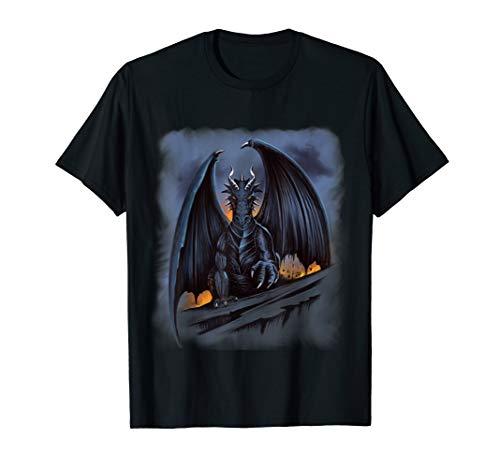 Dark Fantasy Drachen Geschenk Drachen T-Shirt