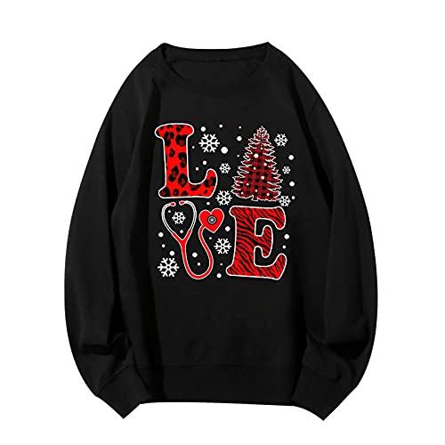 Men's Christmas Sweatshirts Santa|Reindeer Graphic Long Sleeve Slim Fit Shirts Casual Sport Workout Athletic Tee Tops