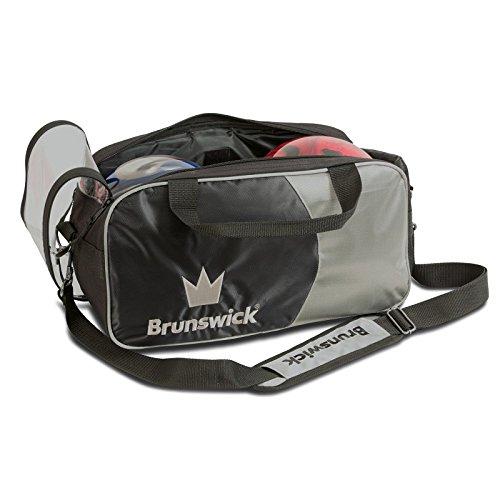 Brunswick Crown Bag 2Balls, Unisex Adult, Unisex adult, Crown, metallic silver, only size