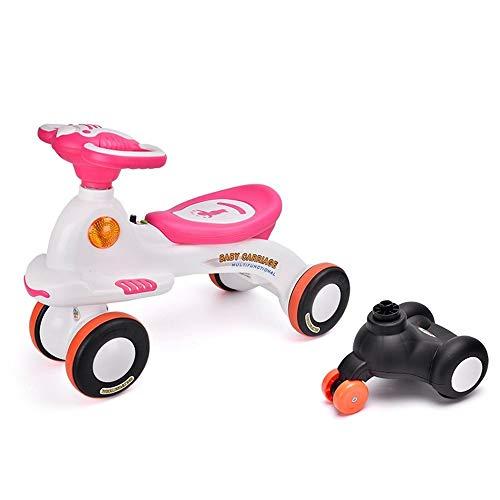 Duan hai rong DHR Twist Auto Wiggle Auto Walker 2-in-1 Allmähliche Balance Bike, for 2-jährige Reiten Spielzeug for Kinder, Beste Radfahren Spielzeug Geschenke Swing Car (Color : Pink)