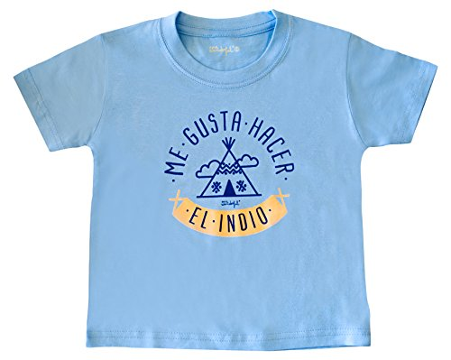 Mr. Wonderful Camiseta infantil 'Me gusta hacer el indio', talla 0 / 3-6 meses