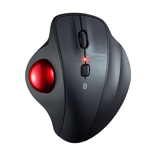 SANWA Bluetooth Ergonomic Trackball Mouse, Optical Vertical Rollerball Mice, Silent Buttons, 600/800/1200/1600 Adjustable DPI, Compatible with MacBook, Windows, macOS, iPad, Android, iOS, Chrome OS