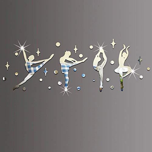 LiféUP Espejo de Pared Pegatinas Decoración,Bailarines de Ballet Etiqueta de La Pared...