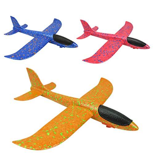 TOYANDONA 3Pcs Polystyreen Vliegtuig Speelgoed Katapult Gooien Vliegende Zweefvliegtuig Foam Vliegtuig Outdoor Sport Speelgoed Voor Jongens Meisjes Kids