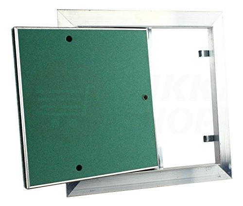 MKK Premium Revisionsklappe 600 x 600 mm GKBi-Einlage Wartung Inspektionsklappe Feuchtraum Druckverschluss ALU - Aluminium Gipskarton Trockenbau Revisions Fliesen