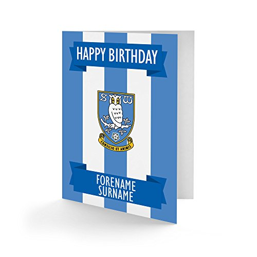 Official Personalised Sheffield Wednesday FC Crest Birthday Card