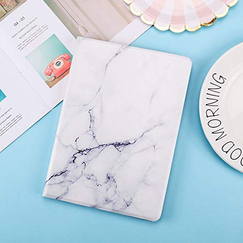 HHF Tab Accessories For iPad 10.2 2019 7/8th 2020, Rotation PU Leather Stand Smart Cover for iPad 9.7 2017 2018 Air 1/2 Tablet 10.5 (Color : White, Size : 10.2in 7th(8th 2020)
