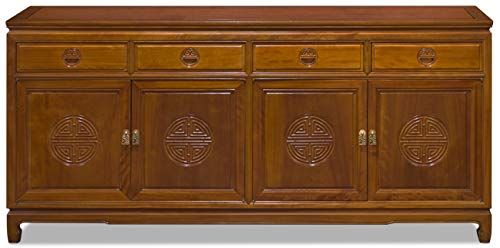 China Furniture Online Rosewood Chinese Sideboard, 72 Inch Longevity Design in Natural Finish