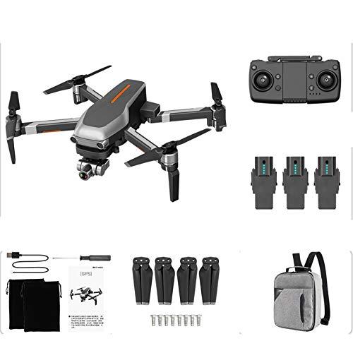 WWDKF Dron Inteligente GPS 4 Ejes, Junta Universal Estabilizada Mecánicamente De 2 Ejes, con Lente 4K HD, Posicionamiento Satelital Inteligente GPS, Retorno De Video 5G, Lente Zoom,F