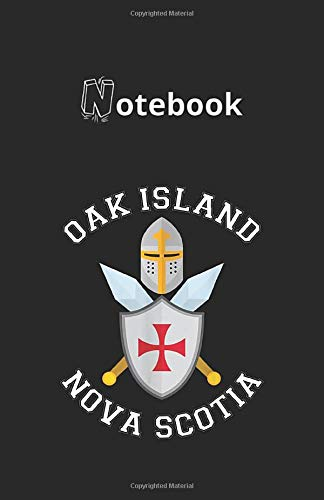 Notebook: Oak Island Shield Helmet Blades 118 Pages 5.5''x8.5'' Lined Pages Notebook White Paper Blank Journal with Black Cover Best Gift for Your Kids or Family Detective Notebook