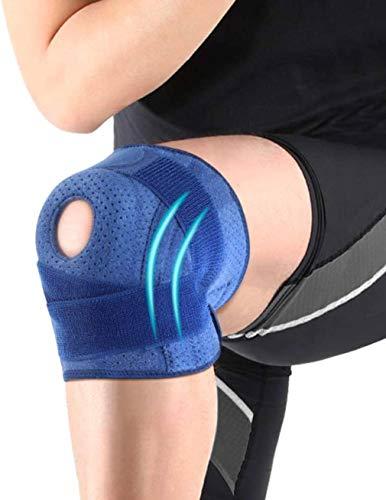 膝サポーター スポーツ 膝 痛み 膝バンド 膝固定 関節靭帯保護 ひざ 怪我防止 関節 靭帯 筋肉保護 前十字靭帯 通気性 サッカー、野球、ランニング バスケ 登山 フリーサイズ 調節可能 左右・男女兼用 1枚入り