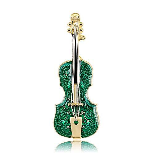 YONGHUI Fashion Enamel Violin Brooch Pins Jewellery Coat Jacket Blouse Lapel Decoration Badge Brooches Accessories