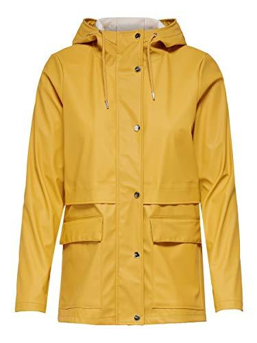 ONLY NOS Damen Regenjacke onlTRAIN RAINCOAT OTW NOOS, Gelb (Yolk Yellow), 38 (Herstellergröße: M)