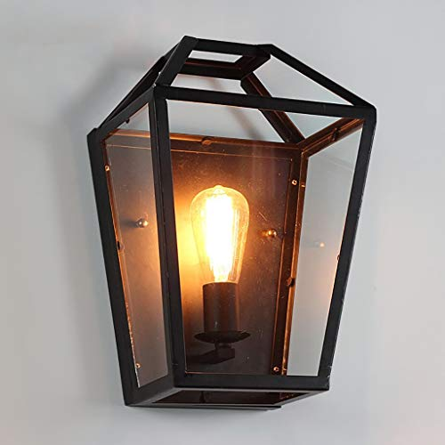 GZ Wohnmöbel Retro Wandleuchte Retro Läden Innenkorridor Eisen Glas Box Wandleuchten Gang Garten Kreativen Lebensstil Lichter