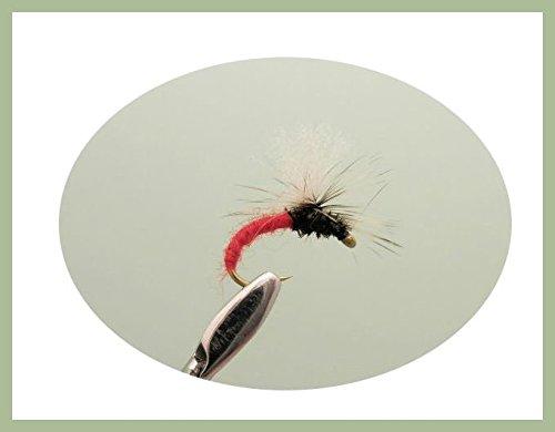 Troutflies UK Ltd Klinkhammer Forelle Fliegen, 6Stück rot klinkhammers, Auswahl von Größen, Fly Angeln