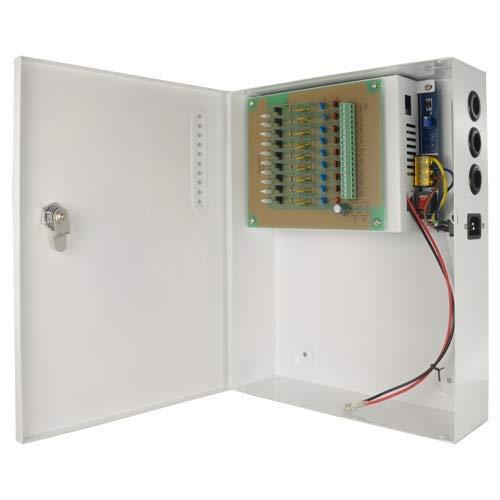 CCTV voeding 12 V 120 W 9 uitgangen met accu Pd-120-9-Ups