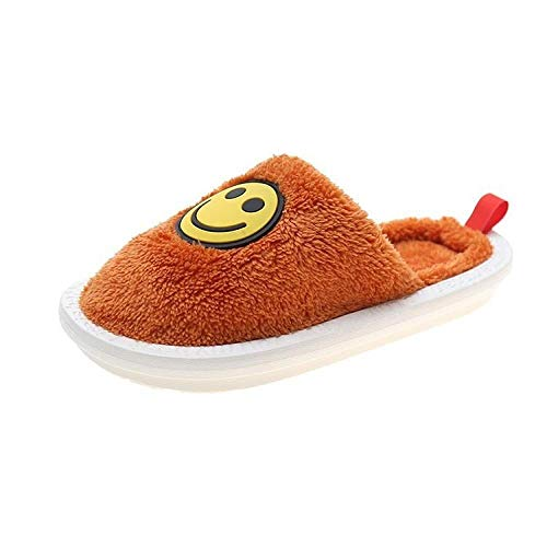 B/H Zapatillas Hombre Mujer Invierno Memory,Zapatillas de Invierno de algodón, Ante de algodón Interior-Orange_39,Pantuflas CóModas,Resistentes