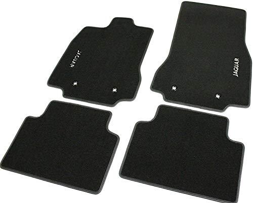 Auto-Fußmatten aus Teppichmaterial, bestickt.