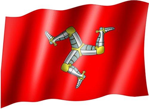 Flagge/Fahne ISLE OF MAN Staatsflagge/Landesflagge/Hissflagge mit Ösen 150x90 cm, sehr gute Qualität
