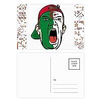 顔のメイクを叫んでアルジェリアキャップ 公式ポストカードセットサンクスカード郵送側20個