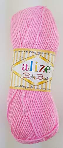 Alize 5 x 100g Strickgarn Baby Best Uni, Antipilling türkische Wolle (191)