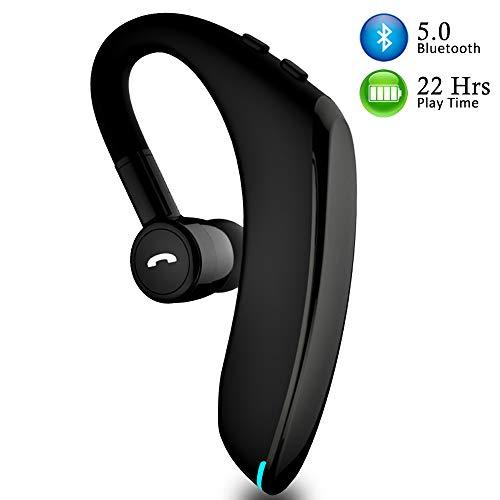 Auricular Bluetooth Inalámbrico V5.0 con Micrófono HD y Cancelación de Ruido para Negocios / Oficina / Conducción, Auricular Manos Libres con 18-22 horas de Tiempo de Trabajo para IPhone y Android