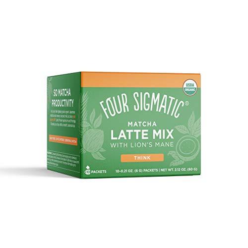 Four Sigmatic, Organic Lion's Mane Matcha Latte Mix, 0.21 Ounce, 10 Pack