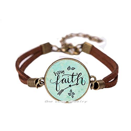 Ni36uo0qitian0ozaap Pulsera Have Faith, pulsera de cristal de aleación de glamour, regalo para ella, pulsera de encanto fiel, TAP260