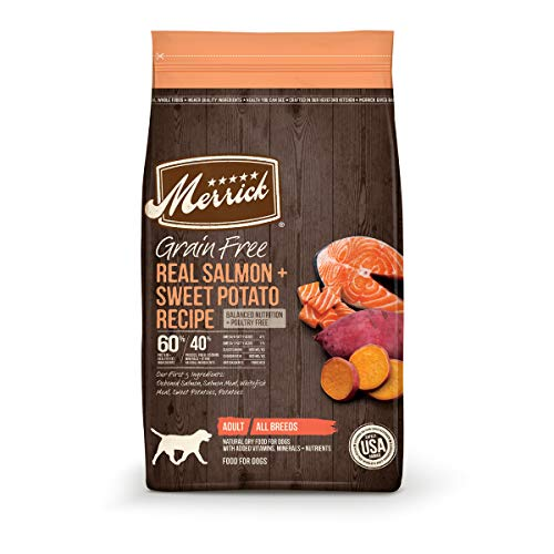 Merrick Grain Free Dry Dog Food Real Salmon & Sweet Potato Recipe - 4.0 lb Bag
