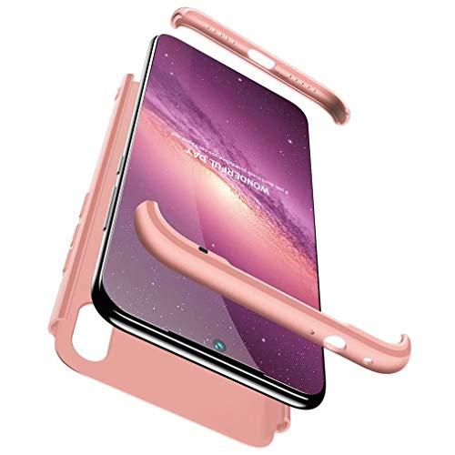 FHXD Compatible con Funda Xiaomi Redmi 7/Redmi Y3 Anti-Shock 360° Carcasa Case Cover Protectora [Protector de Pantalla] Ultra Thin Anti-Scratch 3 in 1 Caso Cáscara Protectora-Oro Rosa