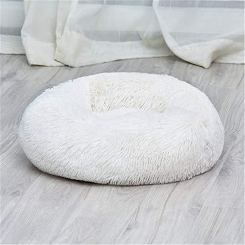 CHSDN Cama de lujo súper suave para gatos y perros, cama para mascotas de lujo suave y suave, cama de donut para perros, cama linda cómoda para mascotas nido blanco XXL