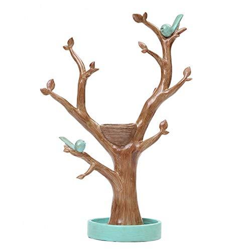 HAKLAKY Decoración de Escritorio Estante de Almacenamiento Creativa Ramas joyería Collar Anillo Soporte de exhibición la decoración del hogar Adornos Coleccionando estatuas (Color : Green)