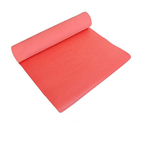 FENGCHENG Eva - Alfombrilla de espuma para yoga, para hombres y mujeres, antideslizante, protección del medio ambiente, ideal para el hogar, oficina, yoga, estudio, rojo, 178 x 60 x 0,8 cm