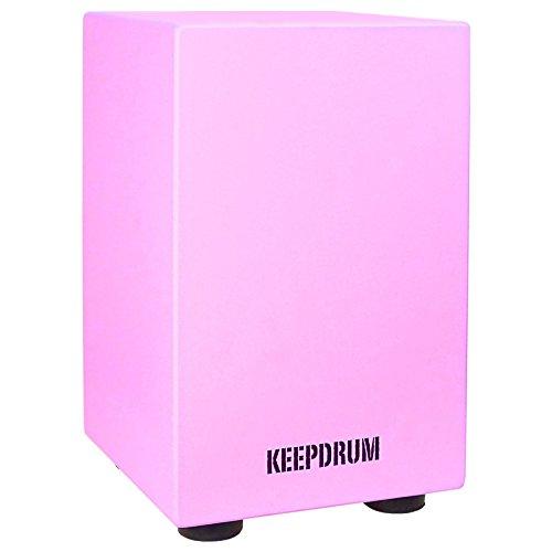 Keepdrum DC1M PK Cajon für Kinder Junior Trommelhocker Kindermöbel Pink Rosa