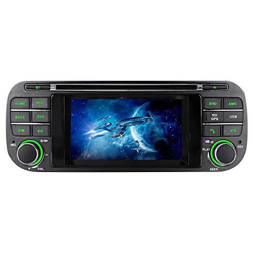 ASURE Car Radio CD DVD Player Bluetooth GPS Navigation InDash Car Stereo for Jeep Grand Cherokee Wrangler Liberty Dodge RAM Chrysler Sebring, Free 16G Map Card
