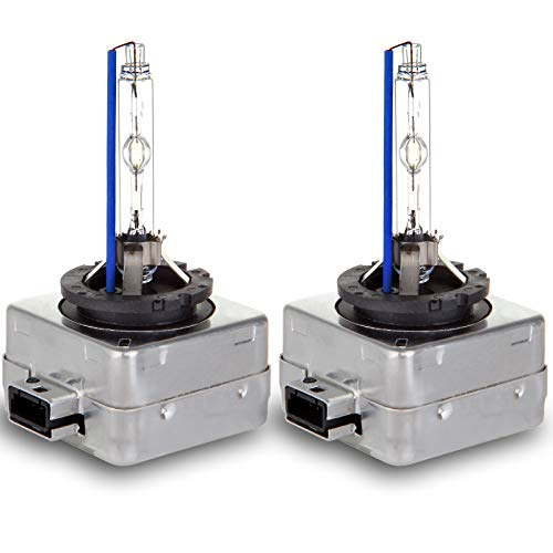 ECCPP D1S Headlight Bulbs 8000K Xenon White HID Replacement Headlight Kits Pair Set